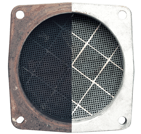 Diesel particulate filter before and after restoration